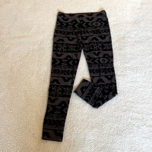 Express Black and Gray Printed Size S Legging